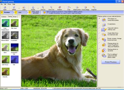 Photolightning photo software